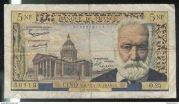 Billet 5 NF Nouveaux Francs France Victor Hugo 15-10-1959 - 5 NF 1959-1965 ''Victor Hugo''