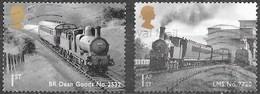 GB - Locomotives  - Adhésifs - Oblitérés - Lot 1109 - 1952-.... (Elizabeth II)