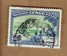 Congo Belge.(COB-OBP)1948 - N°296 *CINQUANTENAIRE DU CHEMIN DE FER MATADI-LEOPOLDVILLE* 2,50F - Oblitéré Costermansville - Congo Belge