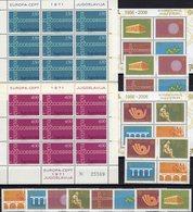 CEPT 1971 JUGOSLAVIJA 1416/7 KB,3257/4,VB+Blocks 59/0 ** 43€ Symbol Kette Hoja M/s Blocs Sheetlets Bf Topics EUROPA - 1945-1992 Socialist Federal Republic Of Yugoslavia