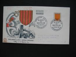 FDC  1955    N° 1046  Armoiries Roussillon   à Voir - FDC