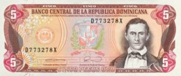 Dominican Republic 5 Pesos, P-131 (1990) - UNC - Dominicaine
