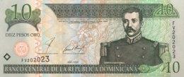 Dominican Republic 10 Pesos, P-168b (2002) - UNC - Dominicaine