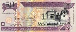 Dominican Republic 50 Pesos, P-176b/Not Listed (2008) - UNC - Printer: De La Rue - Dominikanische Rep.