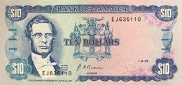 Jamaica 10 Dollars, P-71d (1.8.1992) - UNC - Jamaica