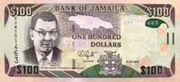 Jamaica 100 Dollars, P-95c (1.6.2016) - UNC - Jamaica