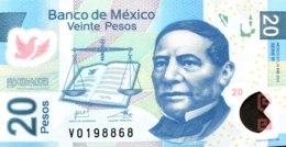 Mexico 20 Pesos, P-122k (10.1.2012) - UNC - Mexico