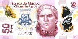 Mexico 50 Pesos, P-123A (12.6.2012) - UNC - Mexique