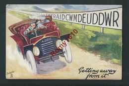 """Illustration Oillette. Couple En Automobile. N°9340. """"Welsh Rarebits"""" - Cartes Postales"""