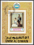 Umm Al Qiwain 1971 Bf. 46B Persian Empire Scia Reza Pahlavi Farah Diba Sheet Imperf. CTO - Umm Al-Qiwain