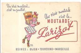 Buvard Une Vraie Moutarde C'est La MOUTARDE Parizot D'après Poulbot - Moutardes