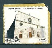 2010 BASILICA COLLEMAGGIO  USATO Da Foglietto - 6. 1946-.. Repubblica