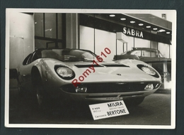 Voiture Sport. 350 Cv.  Miura Carrosserie Bertone. Photo Léonar. - Cartes Postales