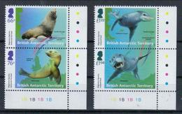 Britisches Antarktis-Territorium 'Pelzrobbe Seeleopard' / British Antarctic Territory 'Fur & Leopard Seal' **/MNH 2018 - Zeezoogdieren