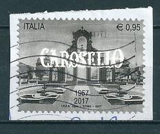 2017  CAROSELLO  USATO  Da Foglietto - 6. 1946-.. Repubblica