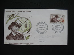 FDC  1956    N° 1055  J-H  Fabre Et Insectes Chercheurs   à Voir - 1950-1959