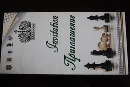 JEU - ECHECS - CHESS - ECHECS - Russian Invitation - Rare! - Chess