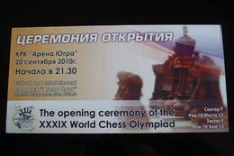 JEU - ECHECS - CHESS - ECHECS - Russian Open Ceremony Card - Rare! - Chess