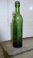 &manque Fermeture& GRANDE BRASSERE A BAR LE DUC - CROIX DE LORRAINE - VIEILLE BOUTEILLE - Verre Prêté - VERRE EPAIS - Beer