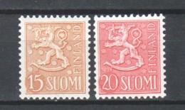Finland Suomi 1956 Mi 458-459 MNH - Unused Stamps