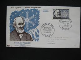 FDC  1956    N° 1056  Charles Tellier Et Navire Frigorifique   à Voir - FDC