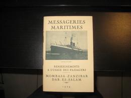 8187- 2018   LIVRET 1929 DES MESSAGERIES MARITIMES LECONTE DE LISLE MOMBASA-ZANZIBAR-DAR.ES.SALAM- - Bateaux