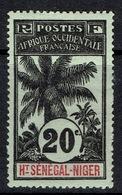 Upper Senegal And Niger, Palmtree 20c. 1906, MH VF - Upper Senegal And Nigeria (1904-1921)