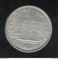 5 Francs Etablissements Français De L'Océanie 1952 - Colonie Française - TTB+ - France