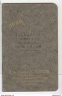 Calendrier Calepin La Concorde Brun 1928 - 8 X 12 Cm - Kalender