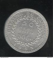 50 Centimes Cambodge 1953 Norodom Sihanouk - TTB+ - Cambodge