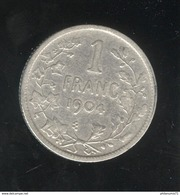 1 Franc Belgique 1904 Léopold II Roi Des Belges - TTB+ - 07. 1 Franc