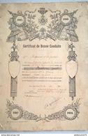Certificat De Bonne Conduite D'un Soldat Du 171ème Régiment D'Infanterie - Attribuée 1920 - Dokumente