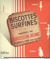 Buvard  Brusson Jeune - Biscottes Surfines - Villemur Sur Tarn - Bon état - Biscottes