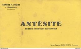 Buvard  Antésite N Perrot  - Boisson Hygiénique économique - Tampon Voiron - Produits Pharmaceutiques