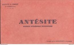 Buvard  Antésite - Boisson Hygiénique économique - Tampon N Perrot Voiron - Bon état - Produits Pharmaceutiques