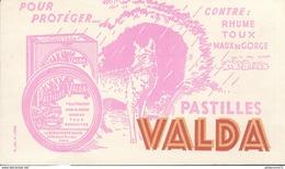 Buvard  Pastilles Valda - Contre Rhume Toux Maux De Gorge - Très Bon état - Produits Pharmaceutiques