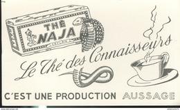 Buvard  Thé Naja - Le Thé Des Connaisseurs - Production Aussage - Très Bon état - Café & Thé