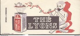 Buvard  Thé Lyons - La Plus Grande Marque Mondiale - Très Bon état - Koffie En Thee