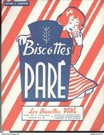 Buvard  Biscottes Paré - Rue Jacquemin Toulouse - Très Bon état - Biscottes