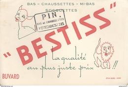 Buvard  Bestiss - Bas Chaussettes Mi Bas Socquettes -Tampon Pin Montceau Les Mines - Très Bon état - Textilos & Vestidos