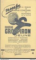 Buvard  Eugène Grospiron Jeune - Expéditions Et Transports Internationaux - Très Bon état - Transports