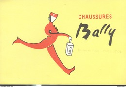 Buvard  Bally - Chaussures - Tampon 91 Rue De Passy Paris Xvi - Très Bon état - Chaussures