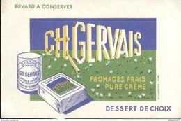 Buvard  Ch Gervais - Fromages Frais Pure Crème - Très Bon état - Produits Laitiers