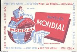 Buvard  Mondial - Matelas - Nuit Sur Mondial Repos Idéal - Très Bon état - Löschblätter, Heftumschläge
