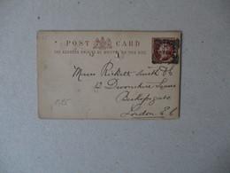 OHESTERFIELD FE 18 92 POSD CARD - Interi Postali
