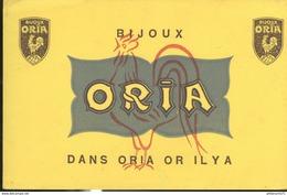 Buvard  Oria - Bijoux - Dans Oria Or Il Y A - Très Bon état - Vloeipapier