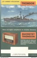 Buvard  Ducretet Thompson - Les Grandes Réalisations  - Très Bon état - Blotters