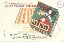 Buvard  Alsa - Flan Sucré - Levure Alsacienne Alsa - Tampon Pons Et Fils Montceau - Très Bon état - Dairy
