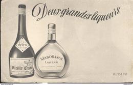 Buvard  Vieille Cure - Maborange - Deux Grandes Liqueurs - - Liquor & Beer