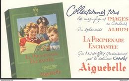 Buvard Chocolat Aiguebelle - La Promenade Enchantée - Très Bon état - Chocolat